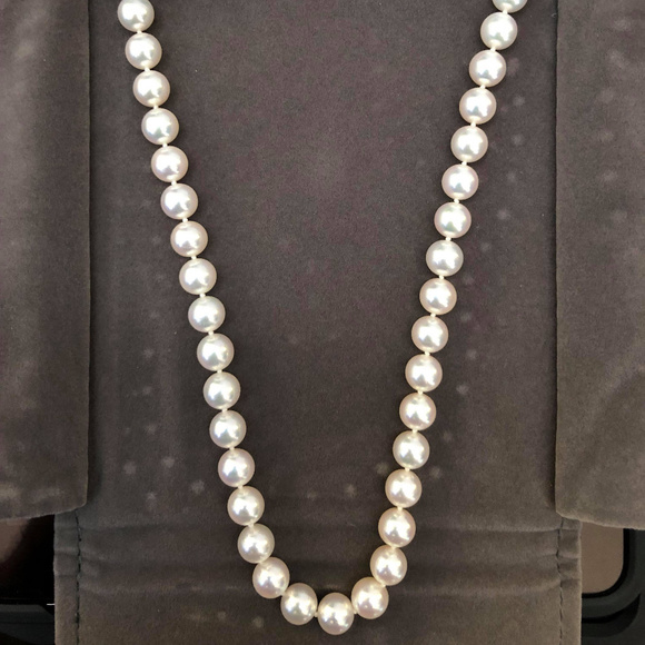 e921b78206412 Round Akoya Cultured Pearl Necklace